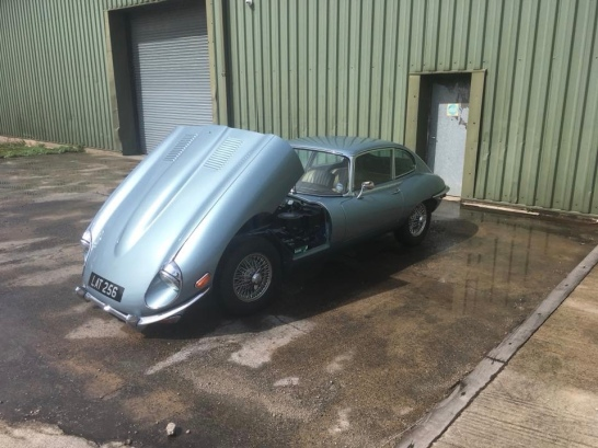 Dave's newly restored E-type